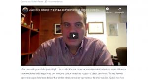 Video sobre la catarsis por Psic. Rubén Reyes
